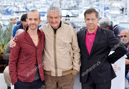 Stock Image of Calogero Maurici, Claude Lelouch and Antoine Sire
