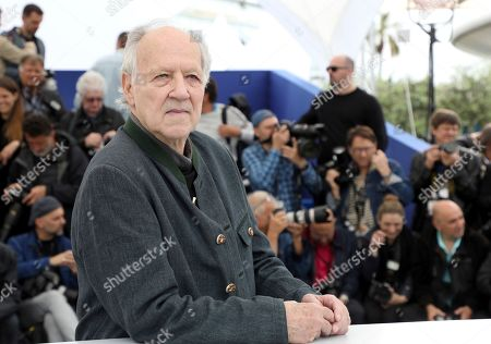 Stock Picture of Werner Herzog poses for photographers at the photo call for the film 'Family Romance' at the 72nd international film festival, Cannes, southern France