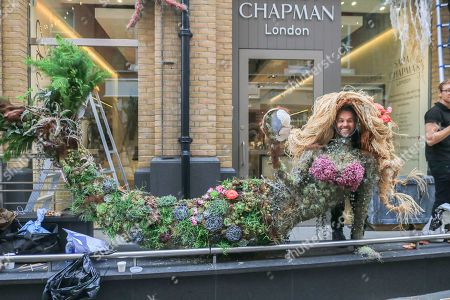 Chelsea in Bloom preparations, London