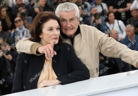 Anouk Aimee, Claude Lelouch. Director Anouk Aimee, left, and Claude Lelouch pose for photographers at the photo call for the film 'The Best Years of a Life' at the 72nd international film festival, Cannes, southern France