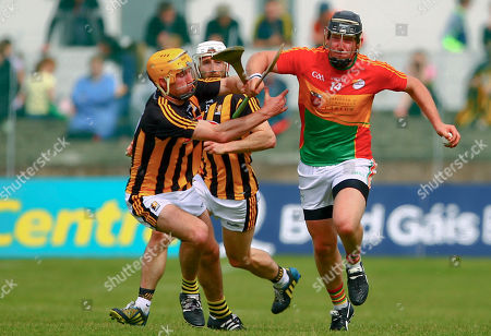 Stock Photo of Carlow vs Kilkenny. Carlow's Seamus Murphy in action against Kilkenny's Richie Leahy