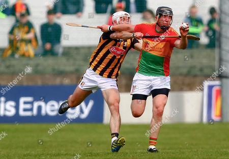 Carlow vs Kilkenny. Carlow's Seamus Murphy in action against Kilkenny's Conor Fogarty
