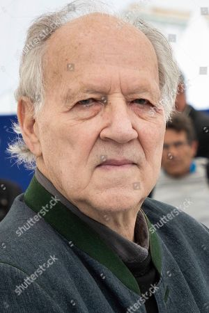 Werner Herzog poses for photographers at the photo call for the film 'Family Romance' at the 72nd international film festival, Cannes, southern France