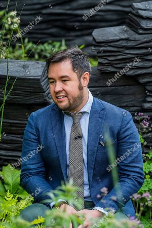 Stock Photo of James Wong of the BBC in The M&G Garden, Designed by Andy Sturgeon, Built by Crocus