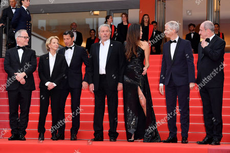 Thierry Fremaux, David Lisnard, Frederique Bredin, Alain Delon, Anouchka Delon, Franck Riester and Pierre Lescure
