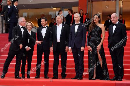 Stock Photo of Thierry Fremaux, David Lisnard, Frederique Bredin, Alain Delon, Anouchka Delon, Franck Riester and Pierre Lescure