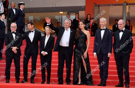 Stock Image of Thierry Fremaux, David Lisnard, Frederique Bredin, Alain Delon, Anouchka Delon, Franck Riester and Pierre Lescure