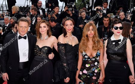 Benoit Magimel, Clotilde Courau, Guest, Zahia Dehar and Rebecca Zlotowski