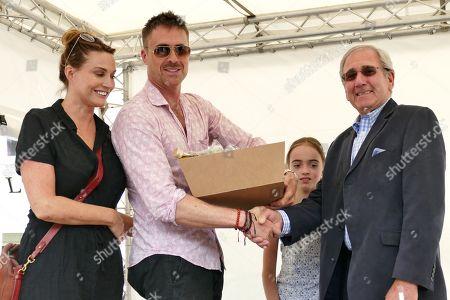 Sarah Parish her Husband James Murray & their Daughter Nell & organiser of the Watercress Festival