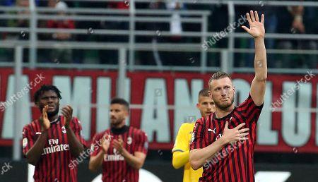 Editorial photo of AC Milan vs Frosinone, Italy - 19 May 2019