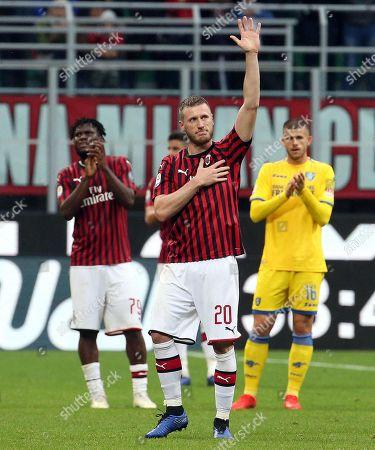 Editorial image of AC Milan vs Frosinone, Italy - 19 May 2019