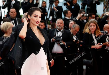 Nabilla Benattia arrives for the screening of 'A Hidden Life' during the 72nd annual Cannes Film Festival, in Cannes, France, 19 May 2019. The movie is presented in the Official Competition of the festival which runs from 14 to 25 May.