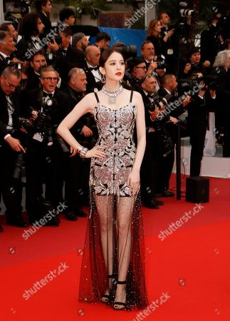 Coulee Nazha arrives for the screening of 'A Hidden Life' during the 72nd annual Cannes Film Festival, in Cannes, France, 19 May 2019. The movie is presented in the Official Competition of the festival which runs from 14 to 25 May.