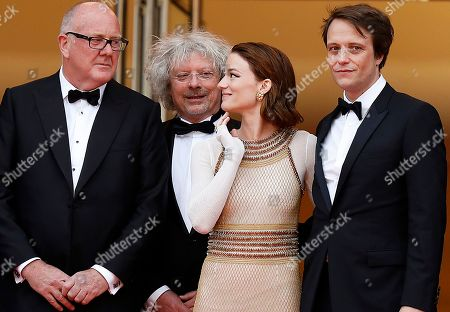 Grant Hill, Marcus Loges, Austrian actress Valerie Pachnerr, German actor August Diehl arrive for the screening of 'A Hidden Life' during the 72nd annual Cannes Film Festival, in Cannes, France, 19 May 2019. The movie is presented in the Official Competition of the festival which runs from 14 to 25 May.