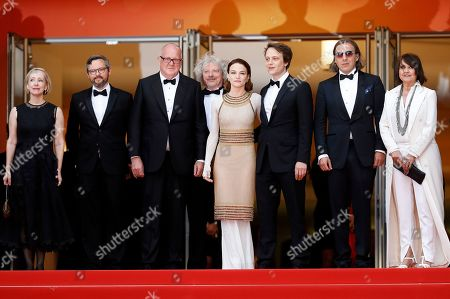 Elisabeth Bentley, Dario Bergesio, Grant Hill, Marcus Loges, Austrian actress Valerie Pachnerr, German actor August Diehl, Bill Pohla arrive for the screening of 'A Hidden Life' during the 72nd annual Cannes Film Festival, in Cannes, France, 19 May 2019. The movie is presented in the Official Competition of the festival which runs from 14 to 25 May.