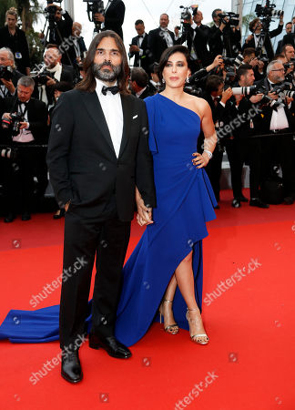 President of the Un Certain Regard Jury, Lebanese director Nadine Labaki (R) and Lebanese composer Khaled Mouzanar (L) arrive for the screening of 'A Hidden Life' during the 72nd annual Cannes Film Festival, in Cannes, France, 19 May 2019. The movie is presented in the Official Competition of the festival which runs from 14 to 25 May.
