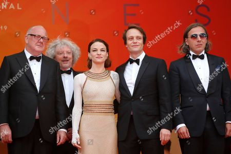 Grant Hill, Marcus Loges, Valerie Pachnerr, August Diehl and Bill Pohla arrive for the screening of 'A Hidden Life' during the 72nd annual Cannes Film Festival, in Cannes, France, 19 May 2019. The movie is presented in the Official Competition of the festival which runs from 14 to 25 May.