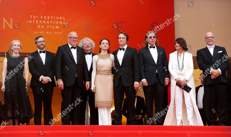 Elisabeth Bentley, Dario Bergesio, Grant Hill, Marcus Loges, Valerie Pachnerr, August Diehl, Bill Pohla and guests arrive for the screening of 'A Hidden Life' during the 72nd annual Cannes Film Festival, in Cannes, France, 19 May 2019. The movie is presented in the Official Competition of the festival which runs from 14 to 25 May.