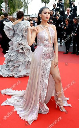 Praya Lundberg arrives for the screening of 'A Hidden Life' during the 72nd annual Cannes Film Festival, in Cannes, France, 19 May 2019. The movie is presented in the Official Competition of the festival which runs from 14 to 25 May.