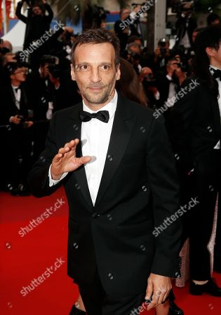 Mathieu Kassovitz arrives for the screening of 'A Hidden Life' during the 72nd annual Cannes Film Festival, in Cannes, France, 19 May 2019. The movie is presented in the Official Competition of the festival which runs from 14 to 25 May.