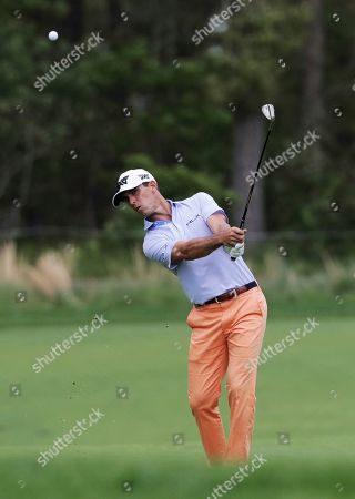 Billy Horschel hits off the ninth fairway during the final round of the PGA Championship golf tournament, at Bethpage Black in Farmingdale, N.Y