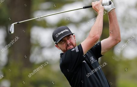 Jimmy Walker hits off the second tee during the final round of the PGA Championship golf tournament, at Bethpage Black in Farmingdale, N.Y