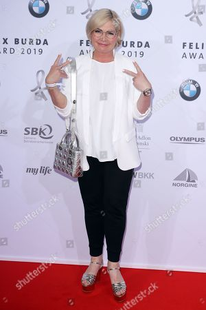 Stock Picture of Claudia Effenberg poses on the red carpet for the Felix Burda Award in Berlin, Germany, 19 May 2019.