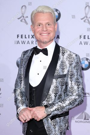 Stock Photo of Guido Cantz poses on the red carpet for the Felix Burda Award in Berlin, Germany, 19 May 2019.