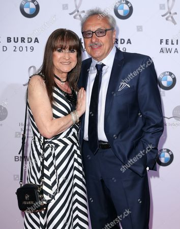 Wolfgang Stumph (R) and his wife Christine pose on the red carpet for the Felix Burda Award in Berlin, Germany, 19 May 2019.