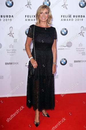 Dagmar Woehrl poses on the red carpet for the Felix Burda Award in Berlin, Germany, 19 May 2019.