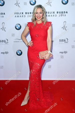 Stock Picture of Ruth Moschner poses on the red carpet for the Felix Burda Award in Berlin, Germany, 19 May 2019.