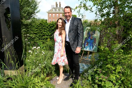 Frankie Poultney and David Seaman on the Viking Cruises' 'The Art of Viking Garden' at RHS Chelsea Flower Show'