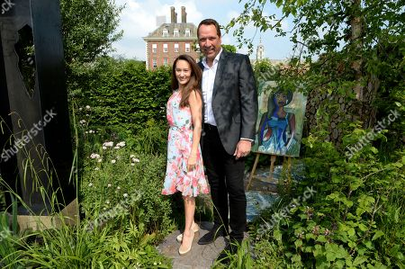 Frankie Poultney and David Seaman on the Viking Cruises' 'The Art of Viking Garden' at RHS Chelsea Flower Show