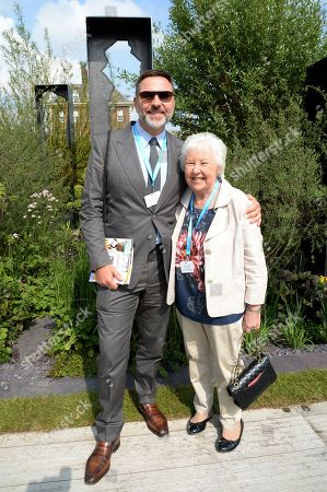 David Walliams and Kathleen Williams on the Viking Cruises' 'The Art of Viking Garden' at RHS Chelsea Flower Show'