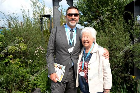 Stock Picture of David Walliams and Kathleen Williams on the Viking Cruises' 'The Art of Viking Garden' at RHS Chelsea Flower Show'