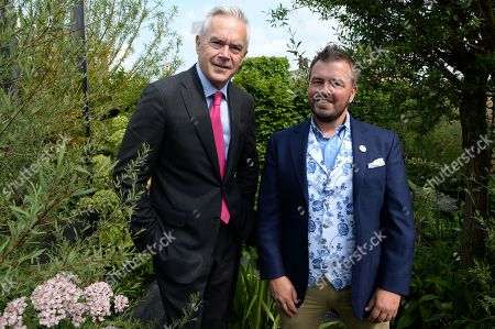 Huw Edwards and Paul Hervey-Brookes on the Viking Cruises' 'The Art of Viking Garden' at RHS Chelsea Flower Show'