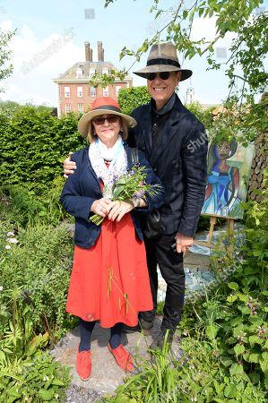Joan Washington and Richard E. Grant on the Viking Cruises' 'The Art of Viking Garden' at RHS Chelsea Flower Show'