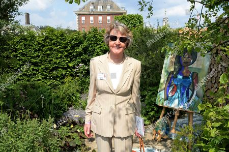 Stock Photo of Penelope Keith on the Viking Cruises' 'The Art of Viking Garden' at RHS Chelsea Flower Show'