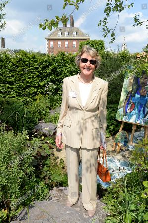 Stock Image of Penelope Keith on the Viking Cruises' 'The Art of Viking Garden' at RHS Chelsea Flower Show'