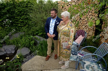 Judi Dench and Paul Hervey-Brookes on the Viking Cruises' 'The Art of Viking Garden' at RHS Chelsea Flower Show'