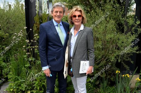 Stock Photo of Nigel Havers and Rita Webb on the Viking Cruises' 'The Art of Viking Garden' at RHS Chelsea Flower Show'