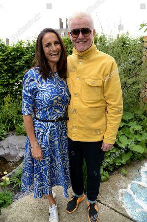 Natasha Evans and Chris Evans on the Viking Cruises' 'The Art of Viking Garden' at RHS Chelsea Flower Show'