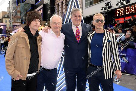 Elliott Spencer, Paul Gambaccini, Stephen Fry and Christopher Sherwood