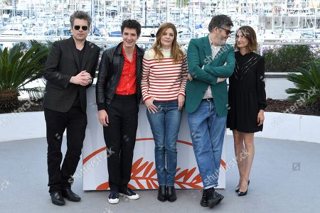 Benjamin Biolay, Vincent Lacoste, Chiara Mastroianni, Christophe Honore and Camille Cottin