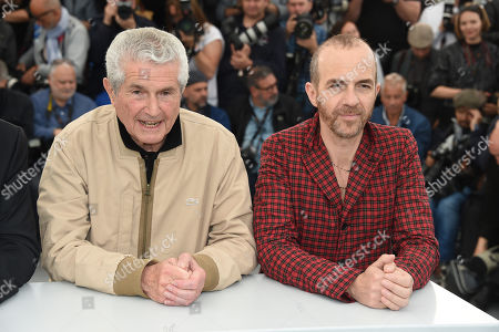 Stock Picture of Claude Lelouch and Calogero Maurici