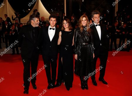 Christophe Honore, French actor Vincent Lacoste, French actress Camille Cottin, French actress Chiara Mastroianni and French singer Benjamin Biolay arrive for the screening of 'Diego Maradona' during the 72nd annual Cannes Film Festival, in Cannes, France, 19 May 2019. The movie is presented out of competition at the festival which runs from 14 to 25 May.