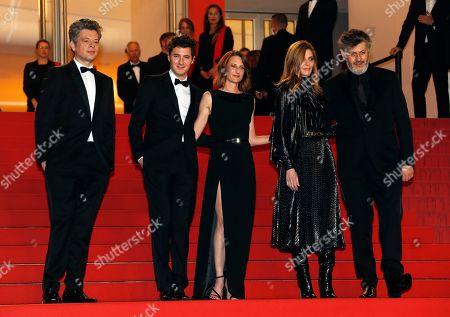 Benjamin Biolay, French actor Vincent Lacoste, French actress Camille Cottin, French actress Chiara Mastroianni and French writer Christophe Honore arrive for the screening of 'Diego Maradona' during the 72nd annual Cannes Film Festival, in Cannes, France, 19 May 2019. The movie is presented out of competition at the festival which runs from 14 to 25 May.