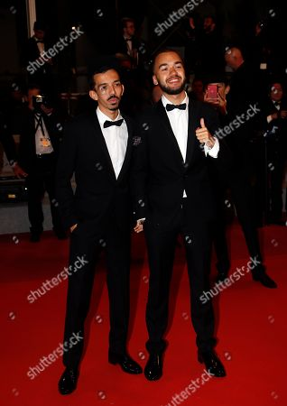 French hip hop duo Bigflo & Oli Florian Ordonez (L) and Olivio Ordonez (R)arrive for the screening of 'Diego Maradona' during the 72nd annual Cannes Film Festival, in Cannes, France, 19 May 2019. The movie is presented out of competition at the festival which runs from 14 to 25 May.