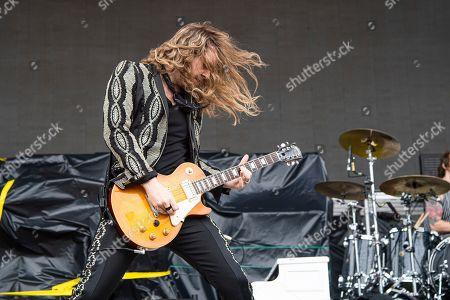 Adam Slack of The Struts performs at the Sonic Temple Art and Music Festival at Mapfre Stadium, in Columbus, Ohio