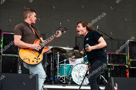Jay Emmons, Brett Emmons. Jay Emmons, left, and Brett Emmons of The Glorious Sons performs at the Sonic Temple Art and Music Festival at Mapfre Stadium, in Columbus, Ohio
